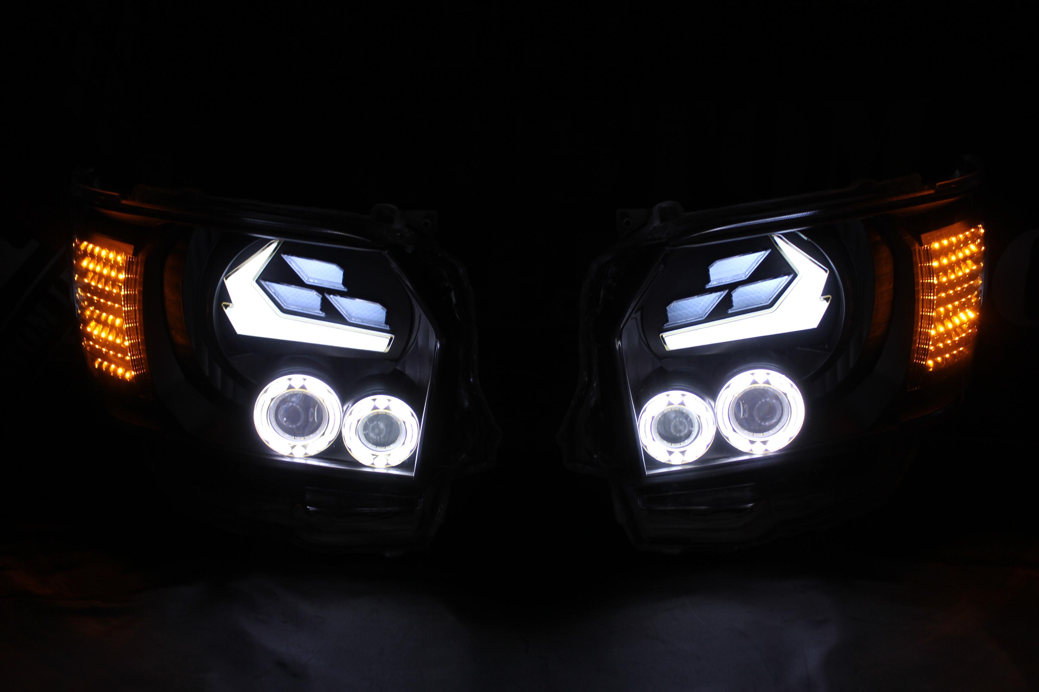 ハイエース4型 ヘッドライト加工