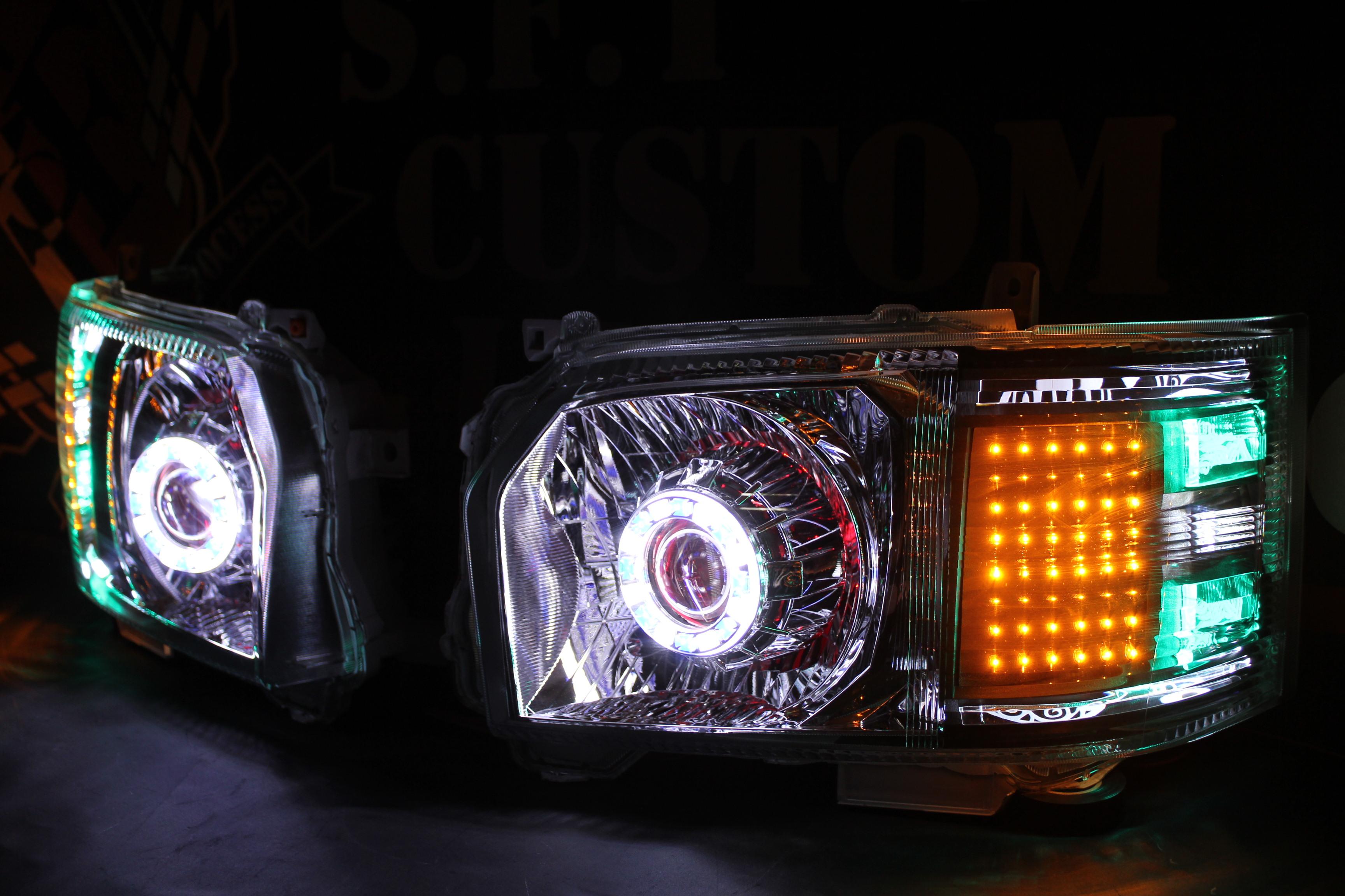 ハイエース 4型 ヘッドライト加工