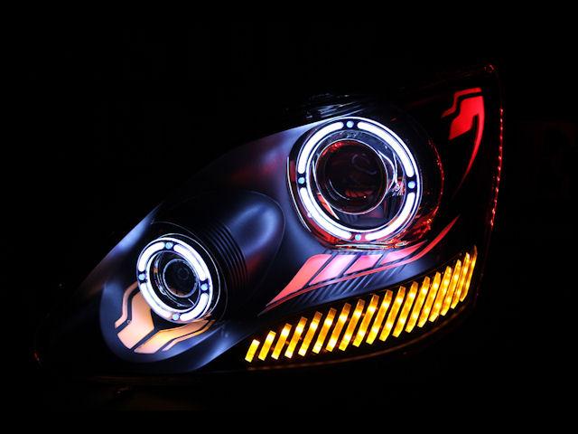 30セルシオ アクリル ヘッドライト加工