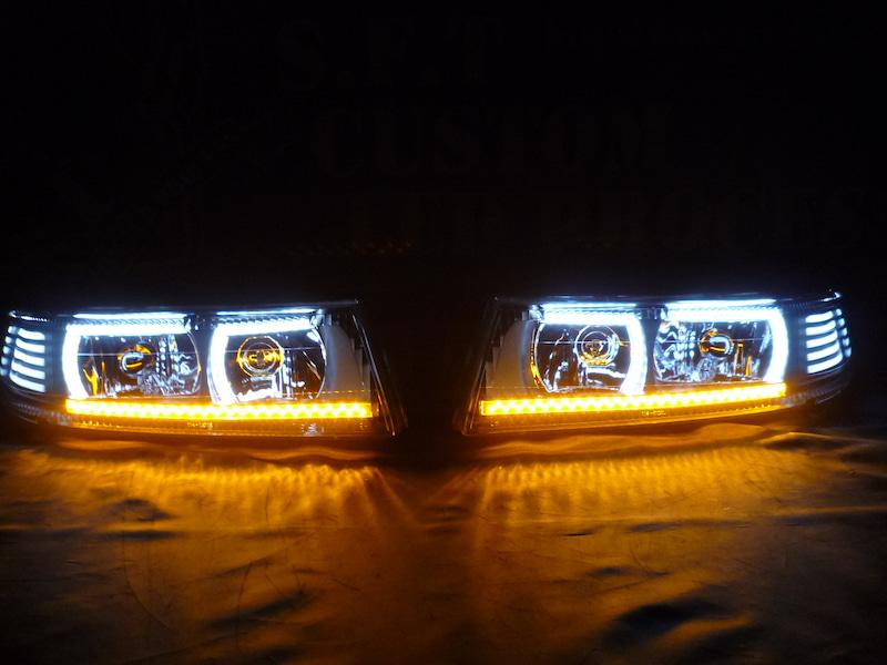 ランエボ ヘッドライト加工
