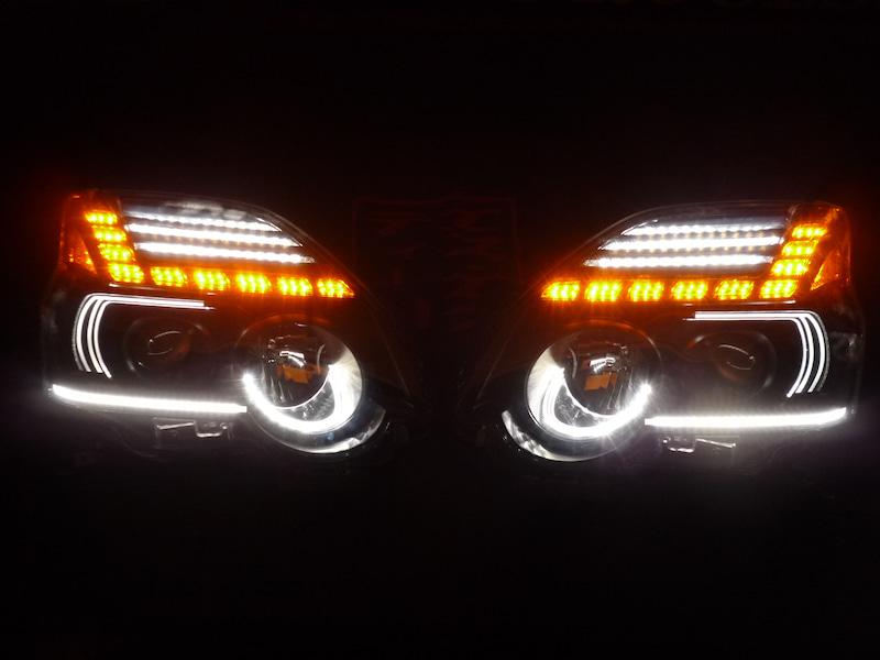 エクストレイル ヘッドライト加工